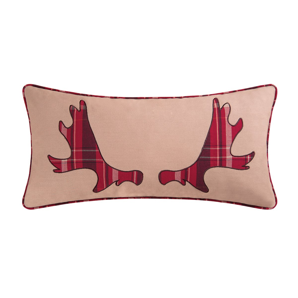 C&F Home Moose Rack Pillow, Red