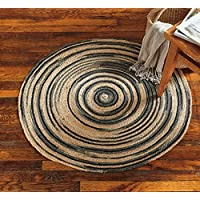 tag - Ombre Spiral Jute 3-Foot Round Rug, Add Some Style to Your Living Room, Office, Entrance Room, & Home, Gray (36 Diameter)