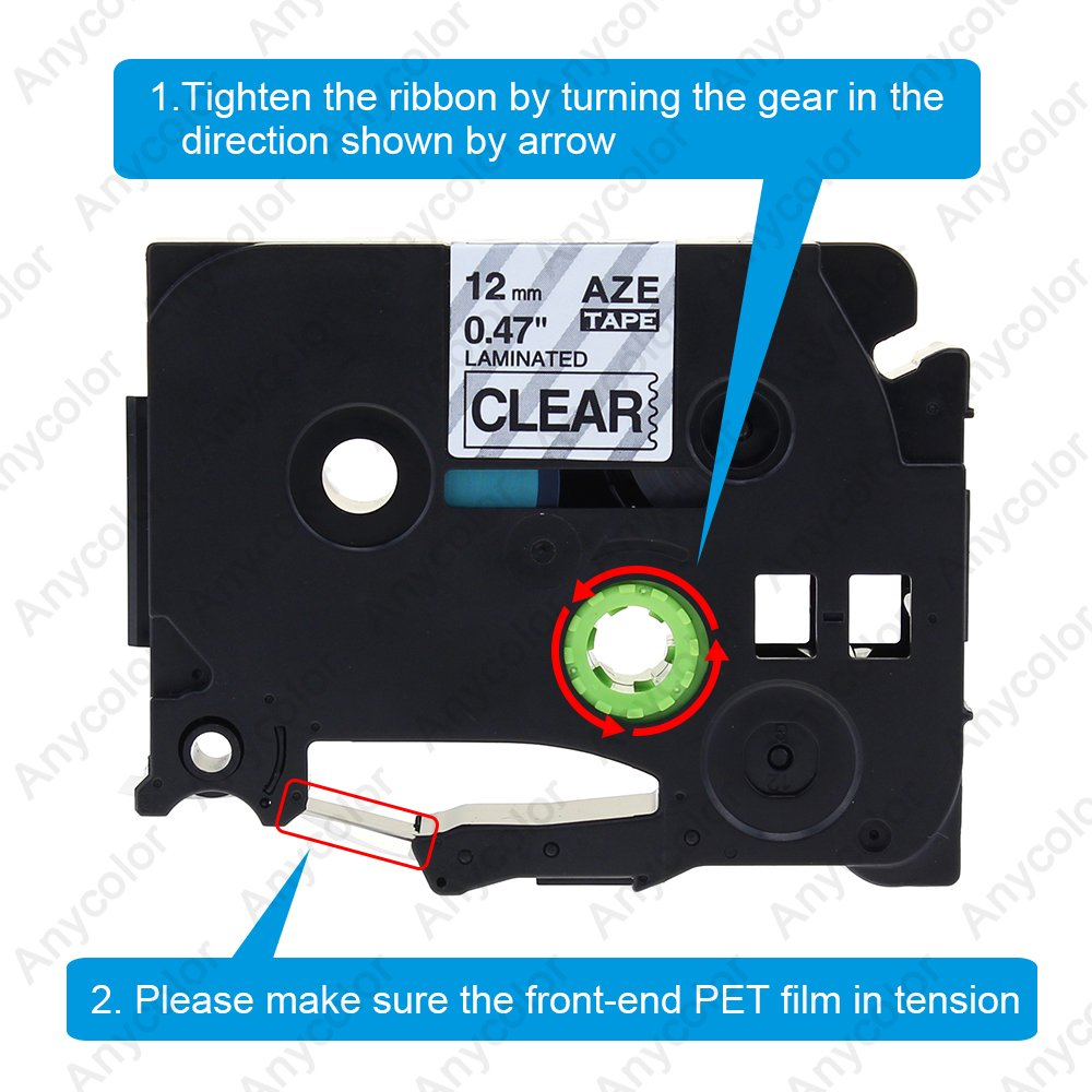 4x Ruban Textile Compatible avec Brother TZe-FA3 Etiquette pour V/êtement
