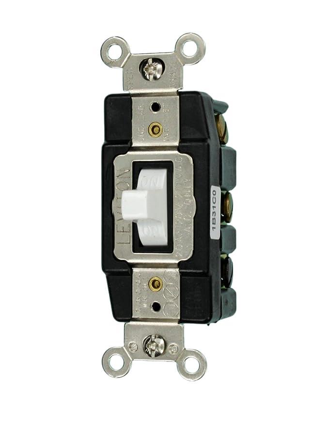 Leviton 1286-I 20-Amp 120/277-Volt Toggle Double-Pole AC Quiet Switch, Ivory - Wall Light Switches - Amazon.com