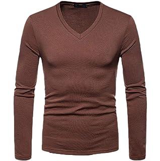 Joe Wenko Mens Long Sleeve Slim Fit Velour V-Neck Lace Up Tee T-Shirts