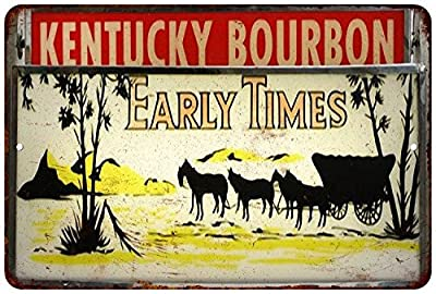 Kentucky Bourbon Vintage Look Reproduction Metal Sign 8x12 8121965