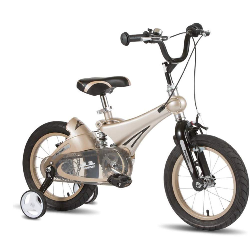 トミカチョウ HAIZHEN マウンテンバイク 子供用自転車 14 新生児、自転車用12inch/ 14inch// 16inch、トレーニングホイール付き、男の子用、女の子用。ゴールドレッド、イエロー 新生児 14 inch ゴールド B07MP8QBSB, アカギチョウ:479e7f18 --- arianechie.dominiotemporario.com