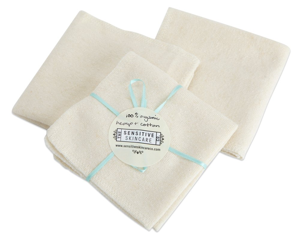 100% Natural pure soft organic cotton wash cloth x 1 Sensitive Skincare Co