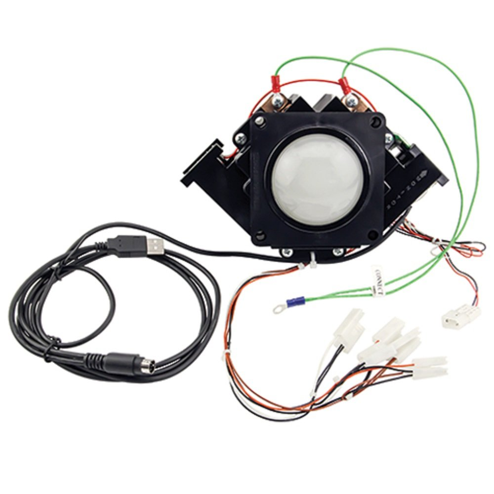 3 inch Arcade Game LED Color Changing trackball with USB and PS2 Interface by RetroArcade.us