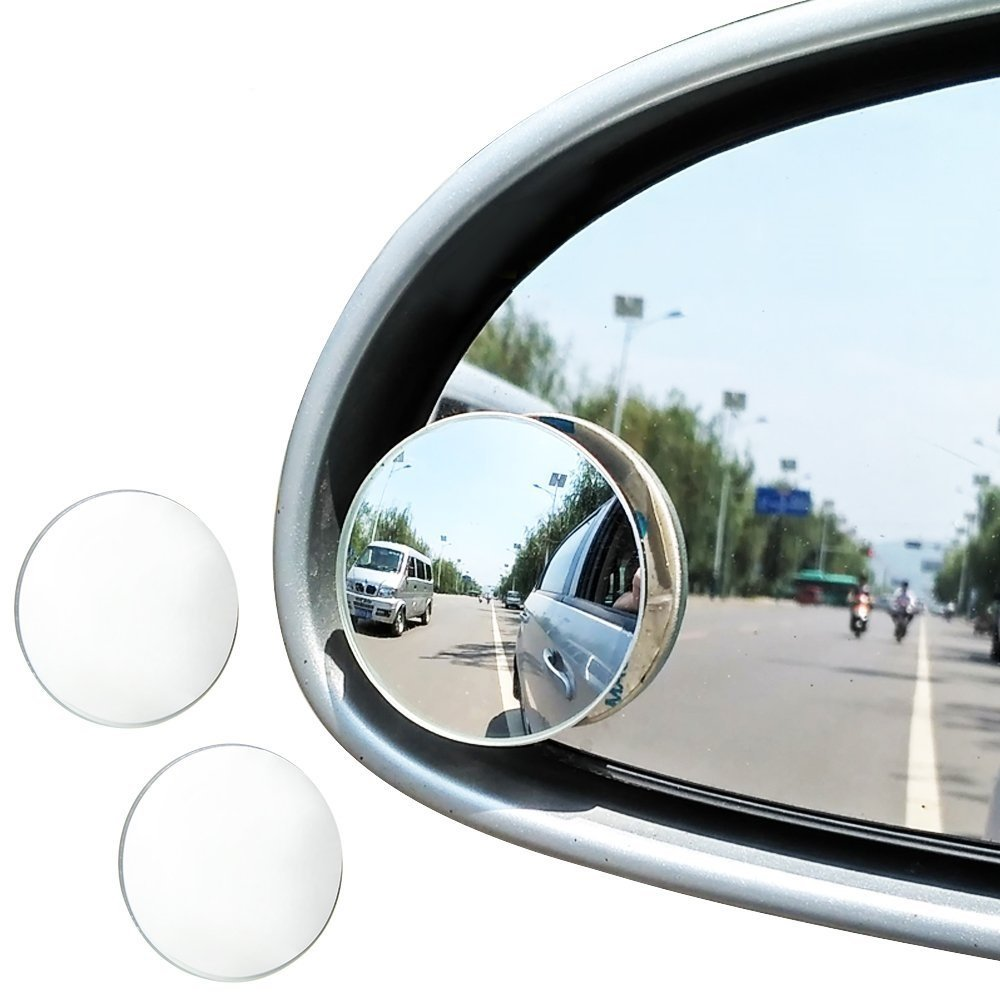 Blind Spot Mirror (2pcs, 2'), JTDEAL Rimless HD Glass Wide Angle 360° Canvex Mirror Car Side Mirror Stick On RearView Car Universal Fit 2) JTDEAL Rimless HD Glass Wide Angle 360° Canvex Mirror Car Side Mirror Stick On RearView Car Universal Fit