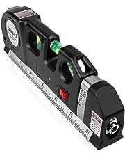 Laser-Wasserwaage Laser-Messlinie - Semlos Multifunktions-Lasermesslinie mit 8FT justiertem Standard-Lineal und metrischen Linealen