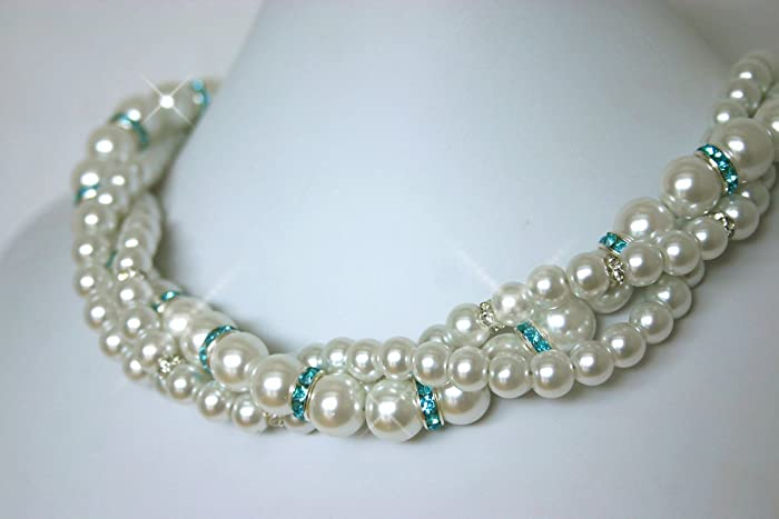 Amazoncom Pearl Bridal Jewelry Bridesmaid Jewelry Something