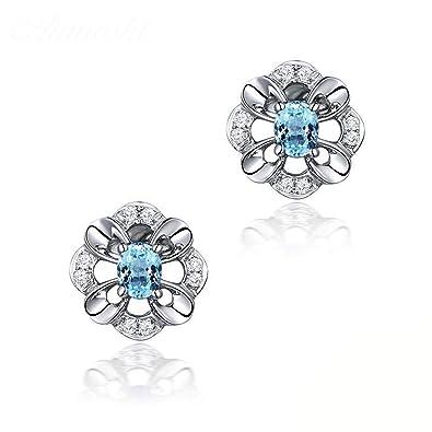 6d2b8d9c6a4b Aundiz - Pendientes de plata de ley 925 con piedras para mujer ...