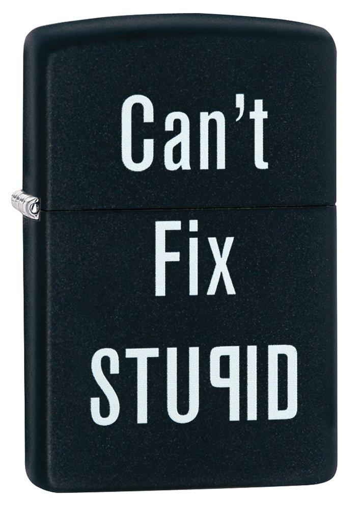 Zippo Can't Fix Stupid - Set de mantenimiento para acampada, color negro 28664