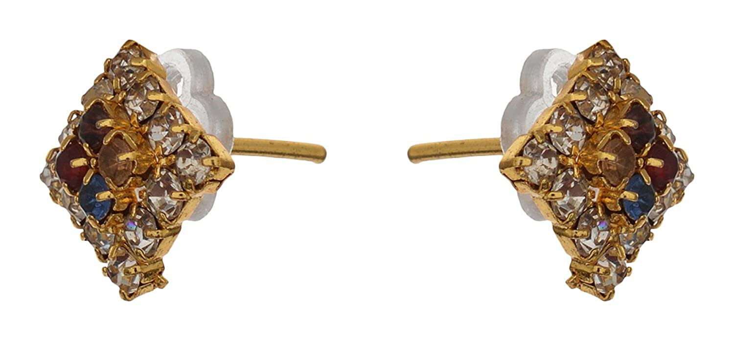 Subharpit Sparking Small Metal Stud Indian Earring for Women and Girls