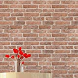 Blooming Wall 7666 Faux 3d Stone Brick Wallpaper Rolls For Livingroom Bedroom Wall Paper,20.8 In32.8 Ft=57 Sq Ft/Roll
