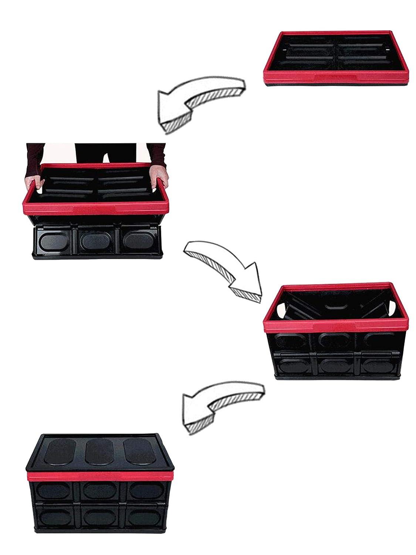 KinHwa Sac de Rangement Coffre de Voiture Pliable Multifonction Organisateur de Auto Conteneur de Stockage de Voiture Id/éal pour Voiture SUV Camion Cuisine PP Mat/ériau Couleur Noir