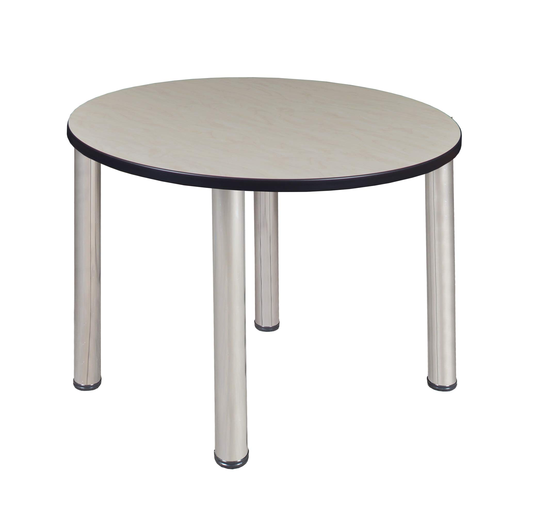 Regency A-TB36RNDLMBPCM Kitt Round Breakroom Table, 36'', Light Maple/Chrome