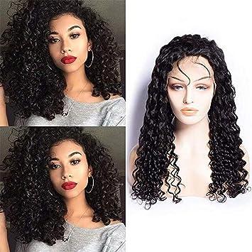 wig Pelucas Delanteras del Pelo Humano del Cordón Pelucas Brasileñas Rizadas Rizadas del Pelo De Remy