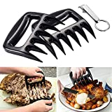 Ankey Bear Meat Claws Pulled Pork Shredder Bbq Pulling Shredding Paws Meat Handler Forks with Free Wine Opener Bottle Keychain Keyring for Barbecue or Grilling Cooking