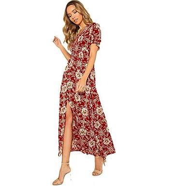 b2643b464da0f6 Guesspower Femme Robe Longue Ete Boheme Chic Maxi Robe de Plage ...