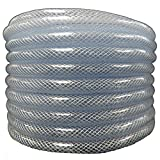 (1'' ID x 1 1/4'' OD x 100 ft) HydroMaxx Flexible Non Toxic Clear High Pressure, Reinforced, PVC Braided Vinyl Tubing (1531100100)