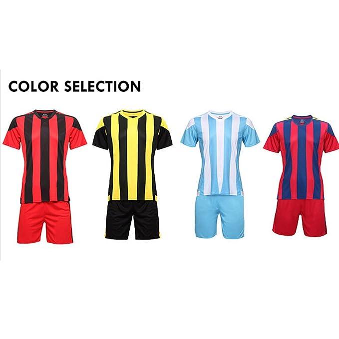 Fútbol Equipo de Futball Jerseys Home/Away Sport Uniforme uniformes con alta calidad azul y