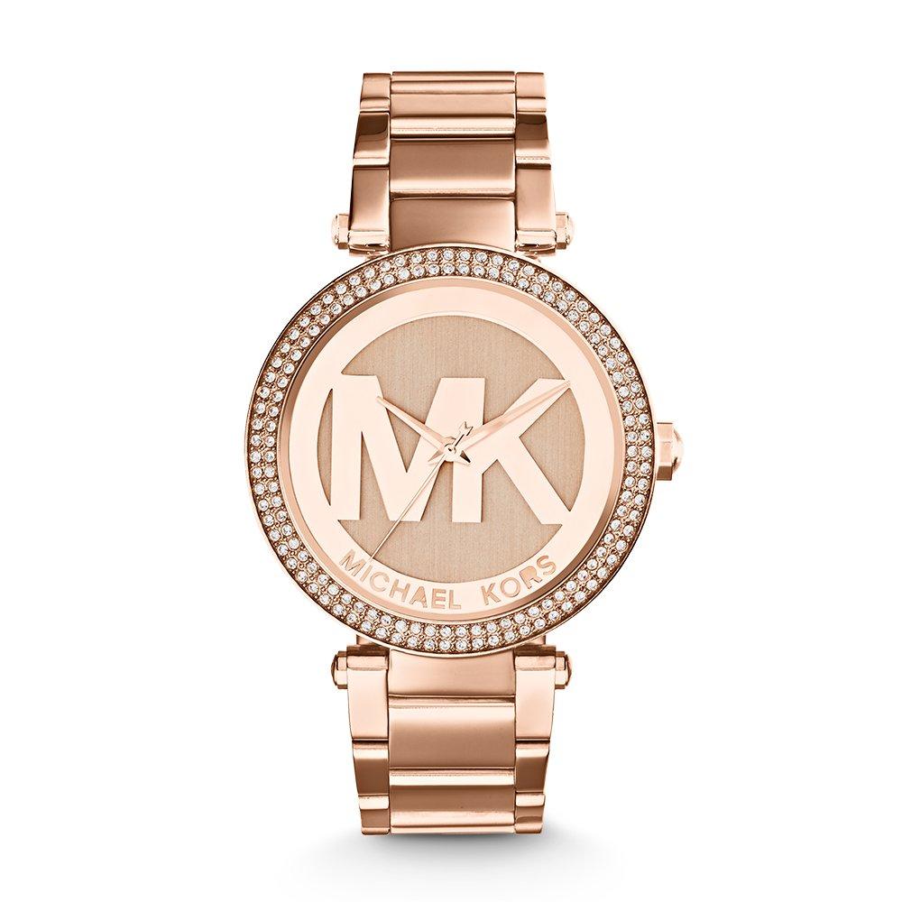 a687152190e4 Amazon.com  Michael Kors Women s Parker Rose Gold-Tone Watch MK5865  Michael  Kors  Watches