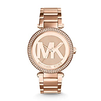 e47b3fb03930 Image Unavailable. Image not available for. Color  Michael Kors Women s  Parker Rose Gold-Tone ...
