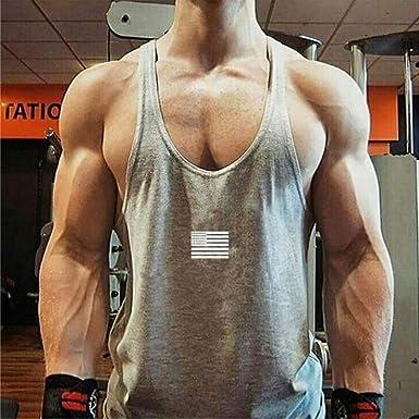 Amazon.com: refulgence Sports Vest Mens Striped American Flag Printed Tank Top Casual Summer Sleeveless Loose Tees Shirts: Clothing