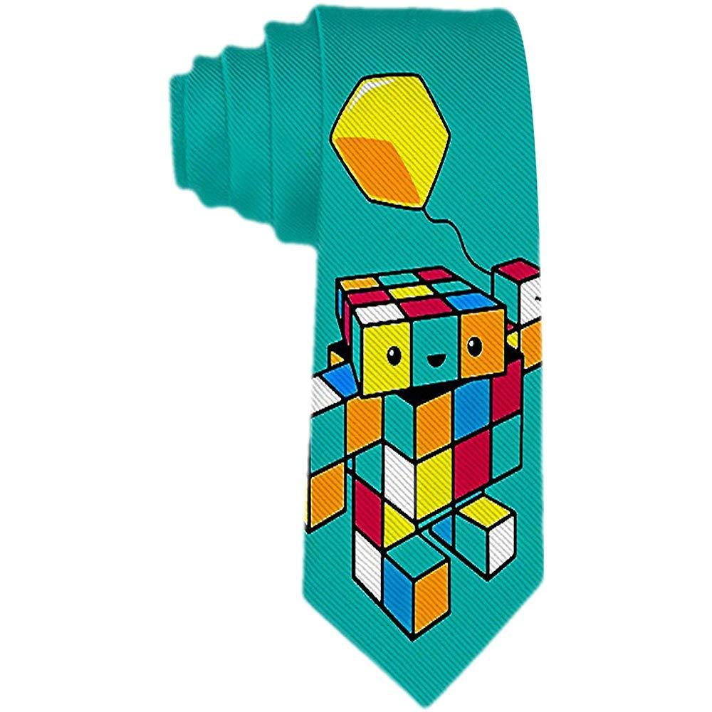 Robot de cubo de dibujos animados con corbata para hombre con ...