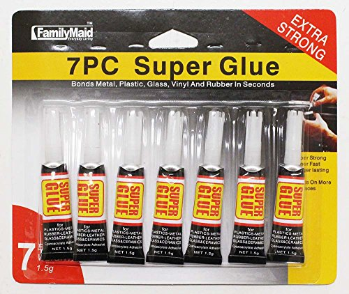 7 Piece Package Of Super Glue-Each Is 3g (ToolUSA: D$-16535 - Broken Fixing Glasses