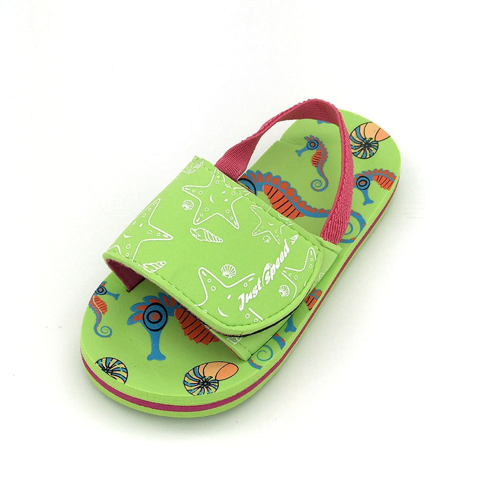 Just Speed Toddler Baby Girl Sandal Cute Color Fun Sun Beach Sand Pool Travel (9, Lime)