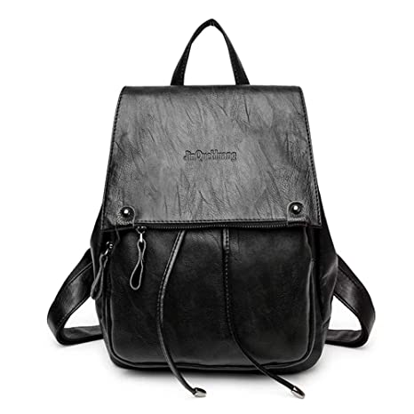 Amazon.com | PU Leather Backpack For Women Lightweight Cute Mini Backpack For Women Fashion School Waterproof | Backpacks