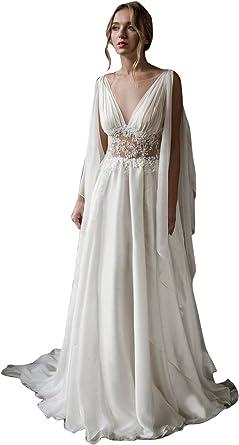 Dressvip Robe de Mariée Grecque pour Mariage