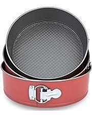 Menax - Molde de Horno Desmontable con Triple Capa Antiadherente - Juego de 3 Moldes de