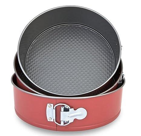 Menax - Molde de Horno Desmontable con Triple Capa Antiadherente - Juego de 3 Moldes de 22, 24 y 26 cms.: Amazon.es: Hogar