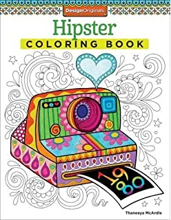 Hipster Coloring Book Design Originals
