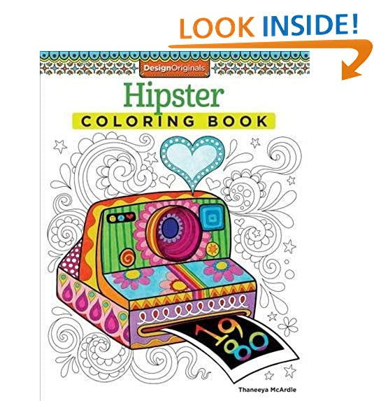 Hipster Coloring Book Design Originals By Thaneeya McArdle