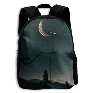 dabd584336 Image Unavailable. Image not available for. Color  Jilu Swinging Girl  Watching MeteorPrinting Children School Book Bag ...