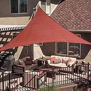 SUNNY GUARD 12′ x 12′ x 12′ Terra Triangle Sun Shade Sail UV Block for Outdoor Patio Garden