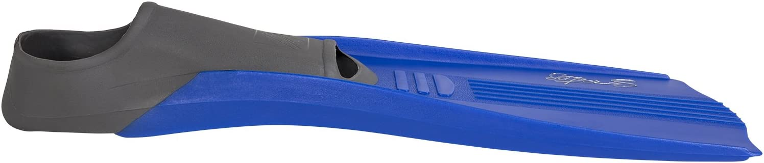 IST Super S Snorkeling Fins with Better Balance Blades /& Closed Heel Full Foot Pocket Eco Friendly Design in Blue