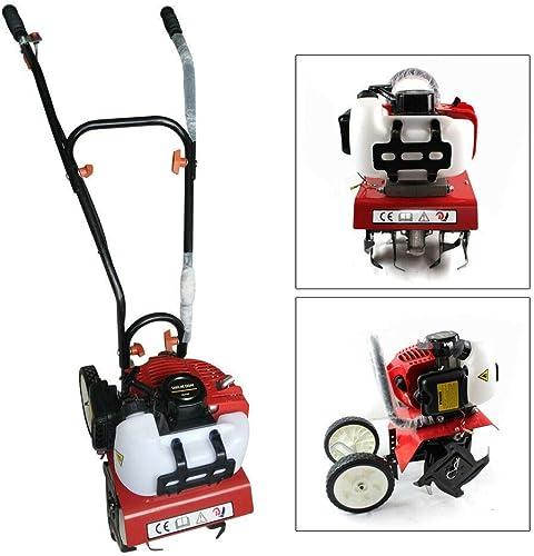 DONSU 52cc 2 Stroke Single Cylinder Soil Petrol Powered Mini Farm Tiller Cultivator Gardening Lawn Machine Engine Soil Tool