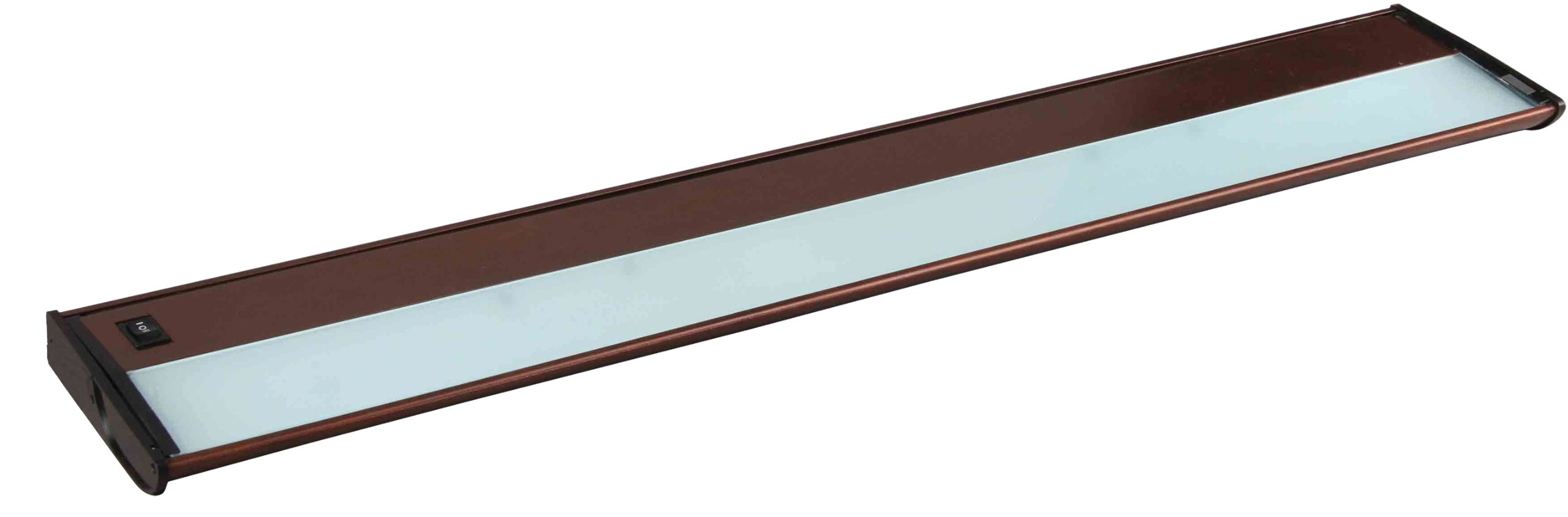 Maxim 87833MB CounterMax MX-X120 30'' 4-Light 120V Xenon, Metallic Bronze Finish, Glass, G8 Xenon Xenon Bulb , 12W Max., Wet Safety Rating, 3000K Color Temp, ELV Dimmable, Glass Shade Material, 840 Rated Lumens