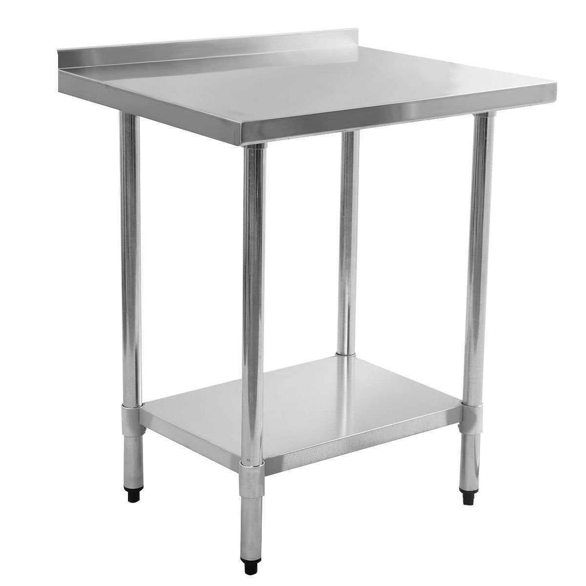 """24"""" x 30"""" Work Prep Stainless Steel Table with Backsplash Kitchen Restaurant"""