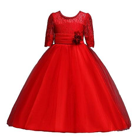 fa79b31f4 Vestido de fiesta para niña Vestido de boda del partido del vestido de tul  del tutú de la princesa ...
