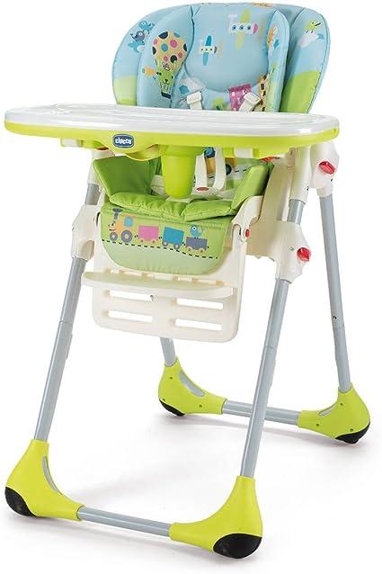 Chicco New Polly - Trona 2 en 1, diseño Baby World, color verde ...