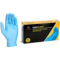 Superior Glove Works RDCNPF KeepKleen Contour Nitrile Glove, Work, Disposable, Powder Free, 4mm Thickness, 9-Inch Length, Large (Box of 100)