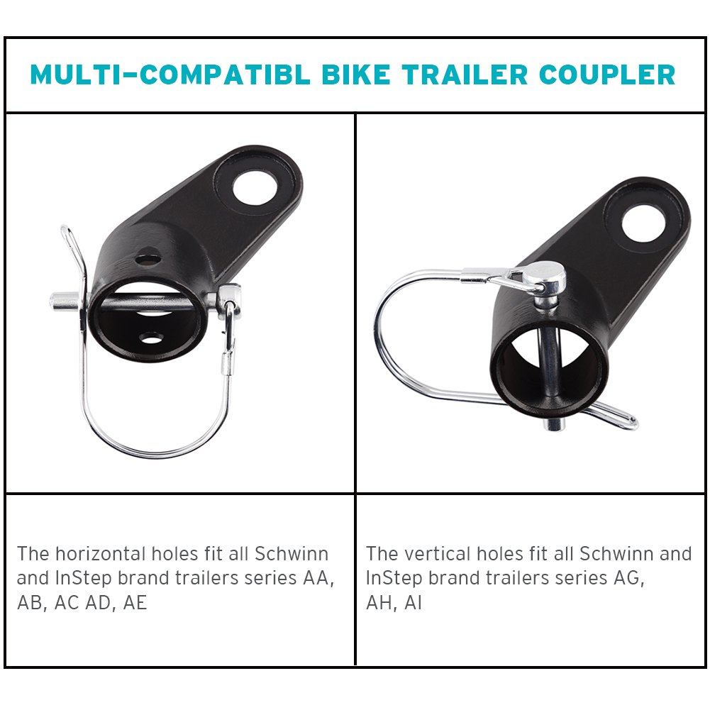 2-Pack Bike Bicycle Trailer Coupler Attachment Angled Elbow for InStep & Schwinn Bike Trailers by Titanker (Image #5)