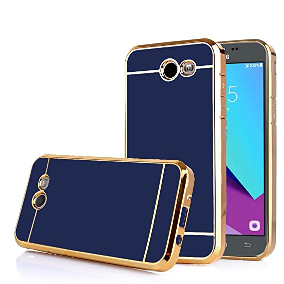 best authentic b4178 46b45 TabPow Galaxy J3 Emerge Case, Electroplate Slim Glossy Finish, Drop  Protection, Shiny Luxury Case for Samsung Galaxy J3 Prime/Galaxy J3  Emerge/Amp ...