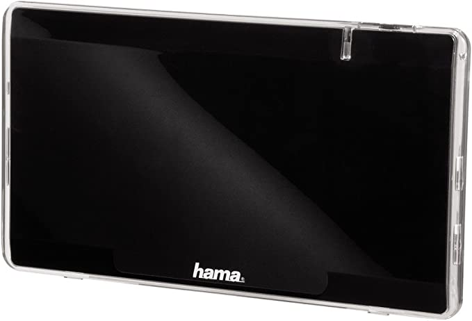 Hama 044304 - Antena Interior Plana, 43 dB, Color Negro