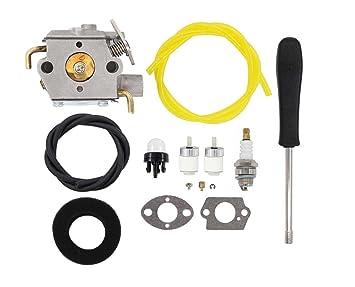 amazon com carburetor air filter fuel line spark plug for mtd troy Troy-Bilt Grass Trimmer Parts carburetor air filter fuel line spark plug for mtd troy bilt tb10cs tb20cs tb20dc tb310qs
