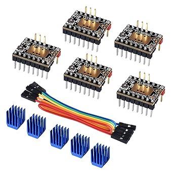 BIQU - Controlador de motor paso a paso para impresora 3D TMC2225 ...