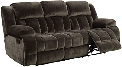Sadhbh Brown Fabric Manual Recliner Sofa by Furniture of America